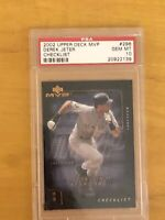 Derek Jeter 2002 Upper Deck MVP Checklist 296 New York Yankees HOF PSA GEM MT 10