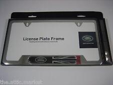 land rover logo black union jack polished stainless steel license plate frame