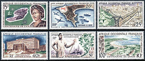 French West Africa C22-C27,MNH.Centenary of Dakar.Ships,Planes,Architecture,1958