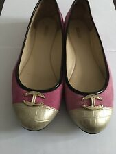Just Cavalli Women's Flat Pink And Gold Casual Shoes EU38 UK5