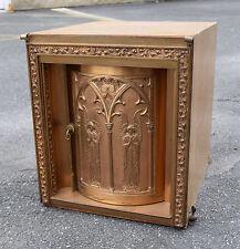 Nice Older Large Tabernacle with Key + (CU156) Church safe + Ciborium