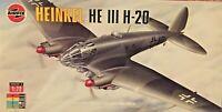 Airfix Heinkel HE III H-20 1/72 Scale Plastic Model Airplane Kit # 05021