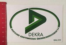 Aufkleber/Sticker: Dekra - Dt. Kraftfahrzeug Überwachungsverein E.V. (21031648)
