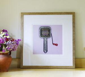 "Kitchenartprint Giclee Limited Edition Print, ""Mouli"" 19x19cm framed"
