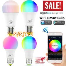 Wifi Smart Bulb LED Light Dimmable E27 for Amazon Alexa Google Home IFTTT APP