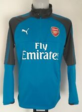 ARSENAL 2017/18 BLUE DANUBE 1/4 ZIP TRAINING TOP BY PUMA SIZE MEN'S LARGE NEW