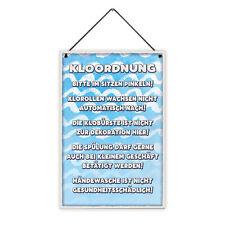 Kloordnung 20 x 30 cm Holz-Schild 8 mm Spruch Motiv Geschenk-Idee WG-Mitbewohner