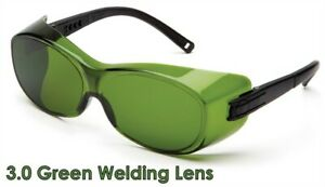 Pyramex OTS Safety Glasses with 3.0 Green Welding Lens + Free Shipping