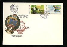 Postal History Portugal Fdc #1581-1582 Aviation manned balloon flight 1983