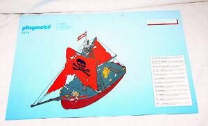 Playmobil Bauplan Anleitung 3174 Piratenschiff Aufbauanleitung