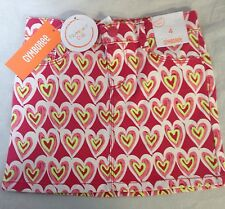 Gymboree Scribble Heart Skirt Girls Size 4 Valentine's Day Pink Yellow Play By