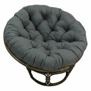 44-inch Solid Twill Papasan Cushion (Fits 42-inch Papasan Frame) - Grey