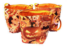Halloween Bags Sweets Treat or Treat Party Bag Pumpkin Cotton Craft Kids