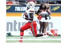 Jeff Thomas Miami Hurricanes signed autograph 8x10 football photo 2020 Draft!