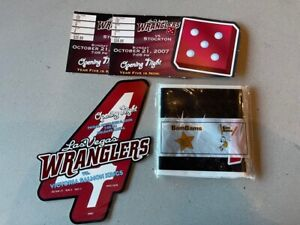 2006-07 LAS VEGAS WRANGLERS Opening Night Ticket Stubs and blow up Bam Bam's