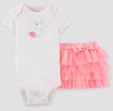 "Nwt ~ Just One You ~ Carter'S ~ ""Easter Bunny"" Body-Suit & Tutu ~ 2 piece ~ 6 Mo"