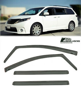 For 11-Up Toyota Sienna In-Channel Rain Guard Deflector Window Visors Side Vent