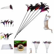 Pet Cat Toys Teaser Wand Toy Stick Feather Bell Interactive Play Funny Toy