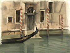 Canal in Venice by Willem Witsen A1+ High Quality Canvas Print