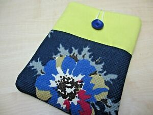 """Soft floral case for mini iPad. 8"""" tablet pouch . iPad Tablet case with pocket"""