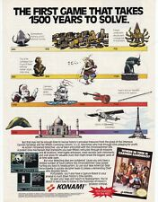 Nintendo NES Konami CARMEN SANDIEGO video game magazine print ad page