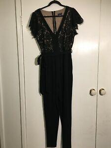 City Chic XS Black Lace Jump Suit