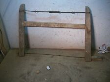 Primitive Old Wood Saw Bucksaw with thin coping type blade