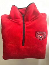NEW NHL WASHINGTON NATIONALS 1/4 ZIP FLEECE PULLOVER - RED - SIZE LARGE