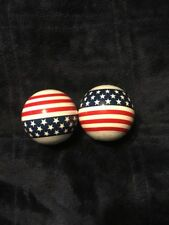 American Flag Car Truck ANTENNA BALL red white and blue patriotic Lot Of 2