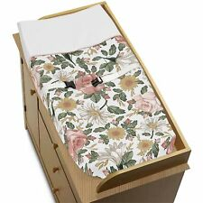 Vintage Floral Farmhouse Boho Girl Baby Nursery Changing Pad Cover by Sweet Jojo