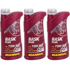 3x 1L Mannol Basic Plus 75W-90 Getriebeöl API GL-4+ GL4+ VW 501.50 MIL-L 2105