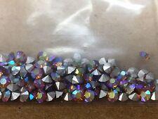 144 aurora Topaz(gold) colored round Swarovski glass Rhinestones 12SS size