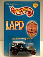 HOT WHEELS LAPD POLICE CRUISER NEW IN BLISTER PACK WITH CUSTOM CASE
