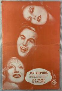Huge 1935 Movie Pressbook My Heart is Calling Jan Kiepura Hollywood Musical