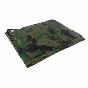 Silverline Cut 2.4 x 3m / Actual 2.3 x 2.85m Camouflage Tarpaulin 488443