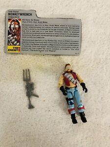 1986 GI Joe Cobra Monkeywrench action Figure 100% Complete