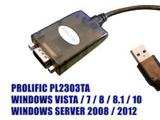 Convertisseur USB RS232 - PROLIFIC PL2303TA - XP Vista Seven 8 8.1 10 et Server