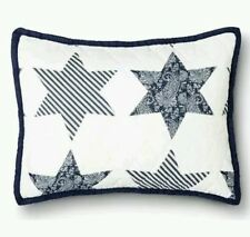 Threshold Americana Blue & White Stars  Quilted Pillow Sham  Standard