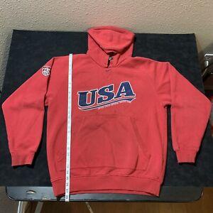 Vintage Nike Center Swoosh Hoodie Olympic Team USA Soccer Script M Fit L