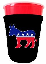 Democratic Party Donkey Logo Neoprene Collapsible Solo Cup Coolie, DNC