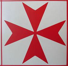 Maltese Cross crusader sticker decal cars fun stickers van bumper decal 5410 Red