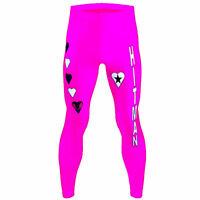 Wrestling Bret Hart Style Mens Fancy Dress Costume Party Leggings Hitman WWF WWE