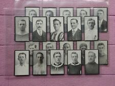 More details for r j hill - famous footballers c1912 complete set 20 cards incl billy meredith