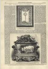 1875 vase de Sevres Porcelaine conçu Rossigneux