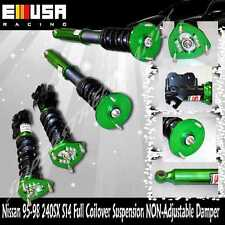 For 95-98 240SX S14 Full coilover Suspension Lowering kits Non Damper Green