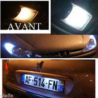 Ampoules LED Blanc Pour Peugeot 206 plaque immatriculation plafonnier veilleuses