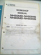 GENUINE HONDA NH50MD NH50MS NH80MD NH80MS NH  WORKSHOP SERVICE REPAIR MANUAL