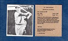 1947 Bowman: #19 VERN JUNIOR STEPHENS, Browns (@1976 hrt/res) commemorative card