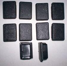 40mm x 30mm en plastique noir embouts Pack de 10