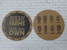 Beer Brewery Coaster ~ ROGUE Brewing & Hop Farms <> Grow Your Own = GYO ~ OREGON